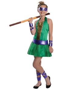 Fato de Donatello das Tartarugas Ninja para menina