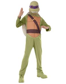 Fato Donatello Tartarugas Ninja para menino em caixa