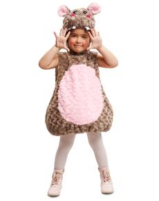 Fato de hipopótamo de peluche infantil